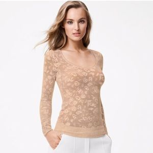 Wolford Rachel Lace pullover shirt size Large New